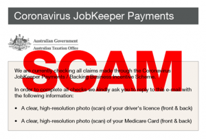 This JobKeeper email scam involves a fake email
